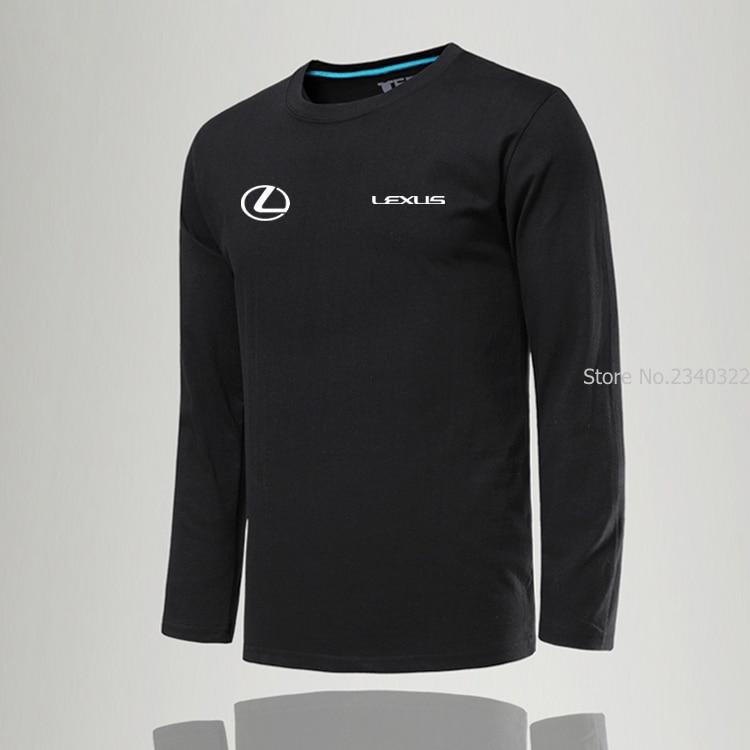Новое поступление, Весенняя модная мужская футболка с длинным рукавом Lexus, мужские крутые футболки, футболка