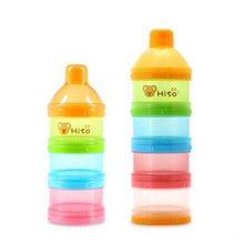 HITO Baby Food Storage Portable Milk Box Snack container Portable Infant Baby Milk Powder Storage Boxes Dispenser Case Container