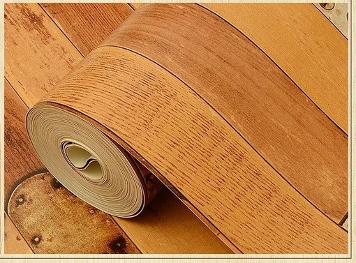 Aliexpress.com : Buy retro wood design wallpaper for bedroom ...