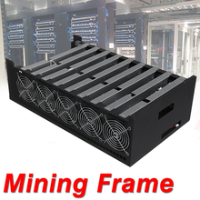 DIY 9GPU Crypto Coin Open Air Mining Server Frame Rig Graphics Case + 10 Fans for ATX Computer Mining Case Frame Server Chassis