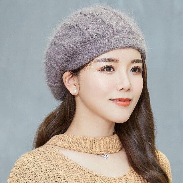 8268470b750 BING YUAN HAO XUAN Winter Knitting Hats for Women Cap Fashion Beanies  Women s Autumn Berets Winter