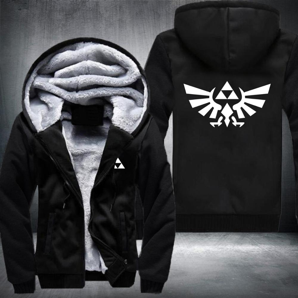 The Legend Of Zelda Anime Hoodies Sweatshirt 2018 Winter Jackets Warm Hoodie Men Thick Zipper Hoodies Fashion Casual Male Coat