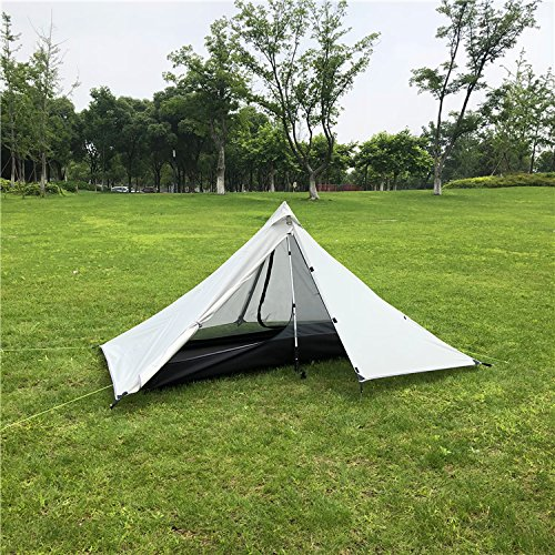 Tente de Camping extérieure 1 personne tentes de randonnée professionnelles ultra-léger en Nylon Silicone tente sans fil matériel de Camping léger