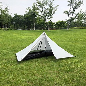 Oudoor Camping Tent 1 Person Professional  Backpacking Tents Ultralight Nylon Silicone Rodless Tent Lightweight Camping Gear