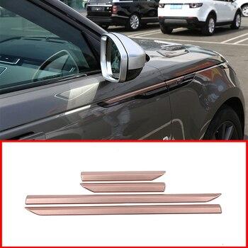 4 шт., покрытие из розового золота, ABS пластик, боковое крыло, декоративная полоска для Land Rover Range Rover Velar 2017-2018, автомобильные аксессуары