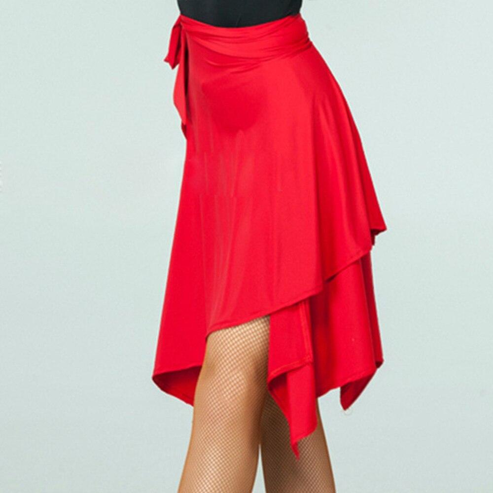 hot sale 2018 summer skirt 70cm Women Latin Salsa Tango Dance Skirt Skate Wrap Scarf Dancewear New