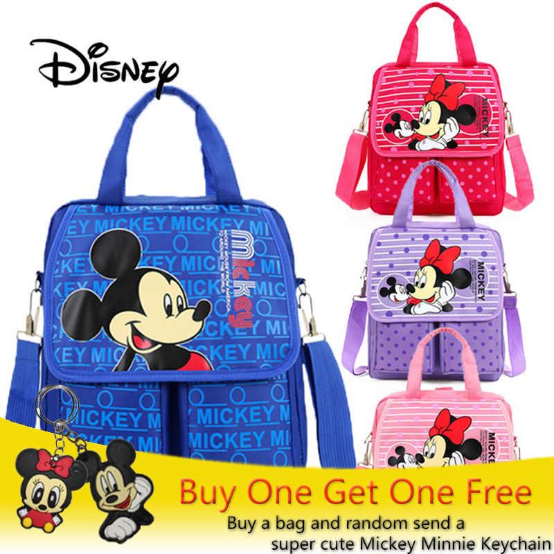 1c33bf7ba26 Disney Kid Plush Backpack Mickey Minnie Mouse Girls Crossbody Shoulder Bag  Cute Cartoon Children Hand School