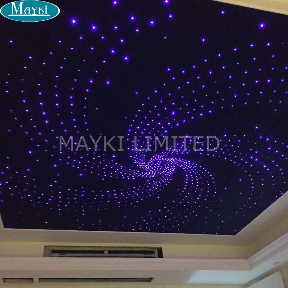 Maykit All Kinds Fiber Optics Using 28key RF Remote Controller  RGBW 32W Led Fiber Optic Engine Driver Double Head