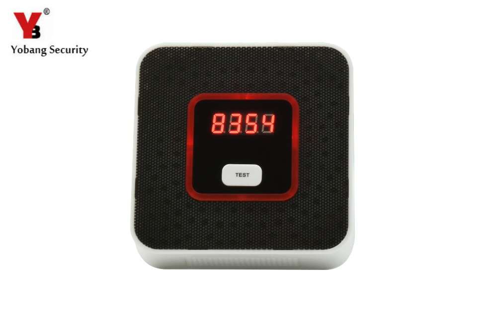 YobangSecurity Home Security Independent Combustible Gas Leakage Detector Natural Gas Sensor With Voice Warning Alarm Sensor high sensitivity standalone combustible gas alarm lpg lng coal natural gas leak detector sensor for home security safety