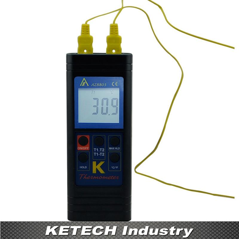 все цены на AZ-8803 Handheld Dual K Thermometer Thermocouple