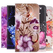 Painted Flip Wallet Leather Soft Cover for Samsung galaxy A3 A5 J1 J3 J5 J7 2017 2016 Cases J5 J2 Prime A8 2018 Plus Case(China)