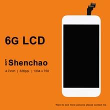 10 sztuk dla iphone 6 6G wyświetlacz LCD dla ShenChao jakości Digitizer z ekran dotykowy szkło wymiana zespołu dla iphone 6 ekran
