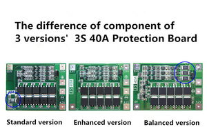 Image 5 - 3 S 40A Caricatore di Batteria Al Litio Protezione Bordo PCB BMS Li Ion Per Trapano Motore 11.1 V 12.6 V Lipo Cellulare modulo con Equilibrio