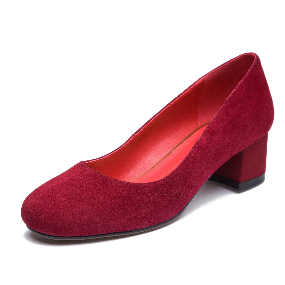 Red Satin Bridesmaid Shoes