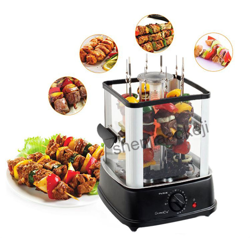 1PC Electric oven indoor smokeless barbecue stove automatic rotating BBQ barbecue machine lamb kebab machine 220V 800W 1pc hot sale 100%quality guaranteed doner kebab slicer two blades electrical kebab knife kebab shawarma gyros cutter