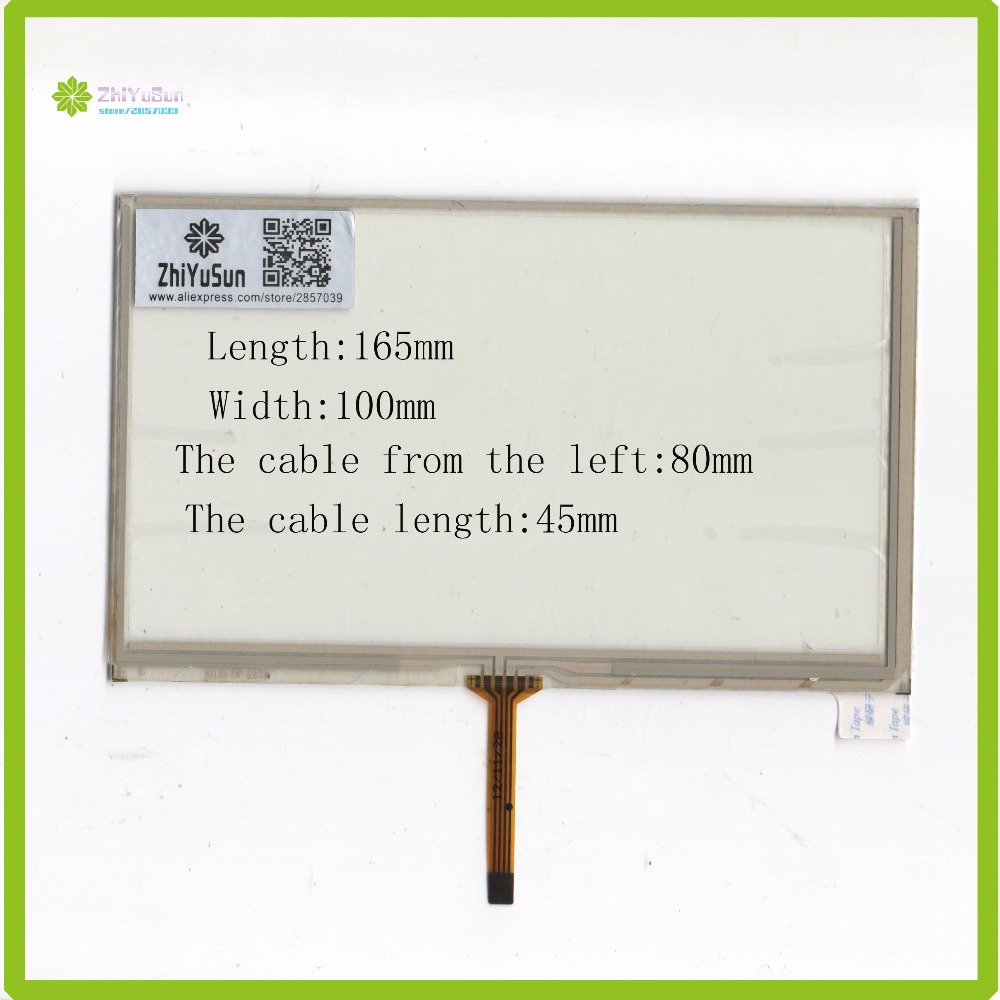 ZhiYuSun HLD-TP-2474 7Inch 165mm*100mm 4Wire Resistive <font><b>TouchScreen</b></font> Panel Digitizer <font><b>165</b></font>*<font><b>100</b></font> this is compatible for AT070TN90 image