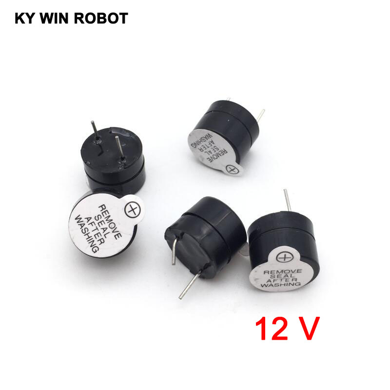 [ Electronic Diy Kit ] 12V Active Buzzer Electromagnetic (SOT Plastic Tube Length Acoustic )(5 Pieces)