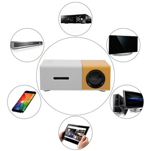 Image 3 - YG300 מיני נייד מקרן LCD LED Proyector HDMI AV USB SD 400 600 לום קולנוע ביתי ילדי חינוך Beamer HD Projetor