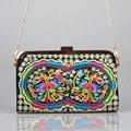 Старинные Вышивки Мешок Юньнань этническая Китайский Национальный стиль вышитые цепи плеча сумку кошелек сцепления маленькую сумочку