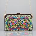 Bolso Bordado de la vendimia étnico Yunnan Chino estilo Nacional bordado cadena del hombro messenger bag bolso de embrague pequeño bolso de mano
