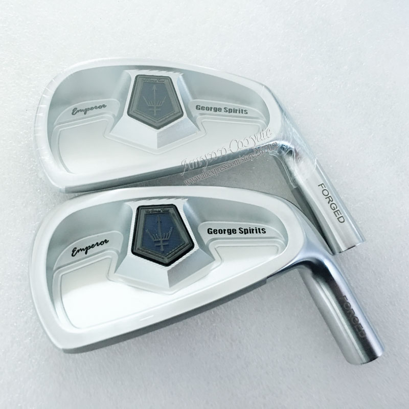 New Cooyute George spirits Golf head set Forged carbon stee Golf irons head set 4-910 Go ...