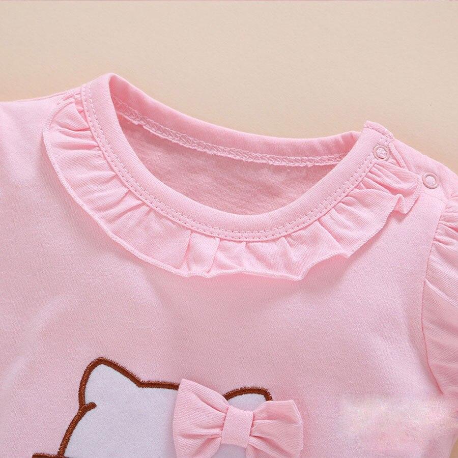 Summer Style Baby Rompers Dziewczyny Ubrania Bawełniane Hello Kitty - Odzież dla niemowląt - Zdjęcie 5
