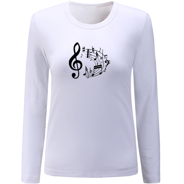 0bbc75e5 My Other Ride is a Doom Buggy Hot New Design Womens O-Neck Long Sleeve  Tshirt Cotton Tee Tops Print Graphic Music Note tshirt