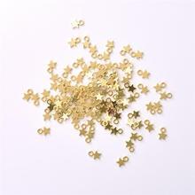 100 шт Серебряный/золотой кулон со звездами DIY ювелирные аксессуары ожерелье браслет для женщин ювелирные изделия изготовление оптом