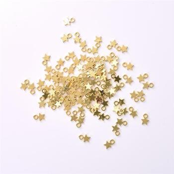 100 шт., золотой/серебристый цвет, подвеска в виде звезд, сделай сам, аксессуары для ювелирных изделий, ожерелье, браслет для женщин, ювелирных изделий, оптовая продажа