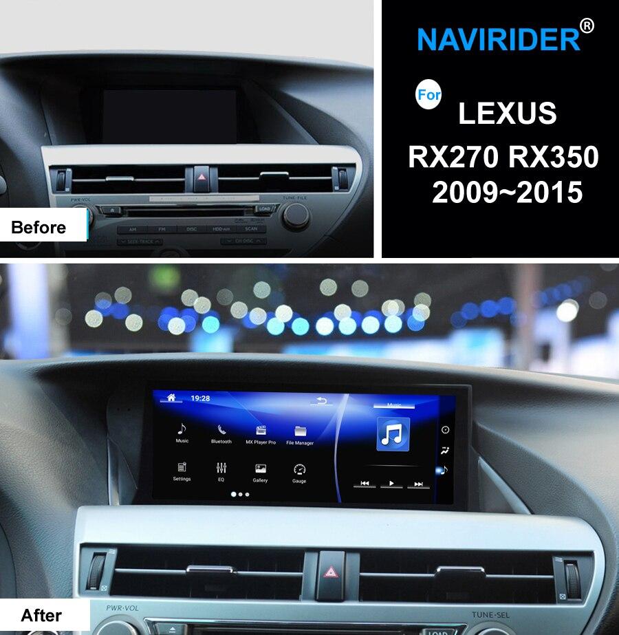 Navirider Android 7.1 Car Radio Player Per LEXUS RX270 RX350 2009 ~ 2015 di Alta dotato di GPS Navi unità principale OBD multimediale schermo no CD DVD