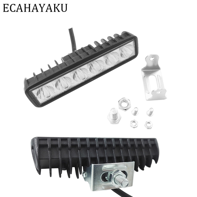 Ecahayaku slim 6inch 18w drl led spot work light worklight 9 32v ecahayaku slim 6inch 18w drl led spot work light worklight 9 32v 4wd publicscrutiny Choice Image