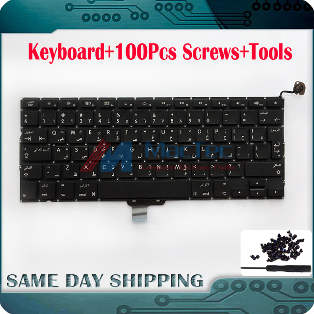 "New Laptop Arabic Keyboard for Apple Macbook Pro 13.3"" A1278 Keyboard Arabic Keyboard Replacement 2009 2010 2011 2012 Year"