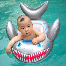 Childrens Inflatable Swimming Ring Shark Float With Handle Kids Baby Toddler Whale Swim Seat