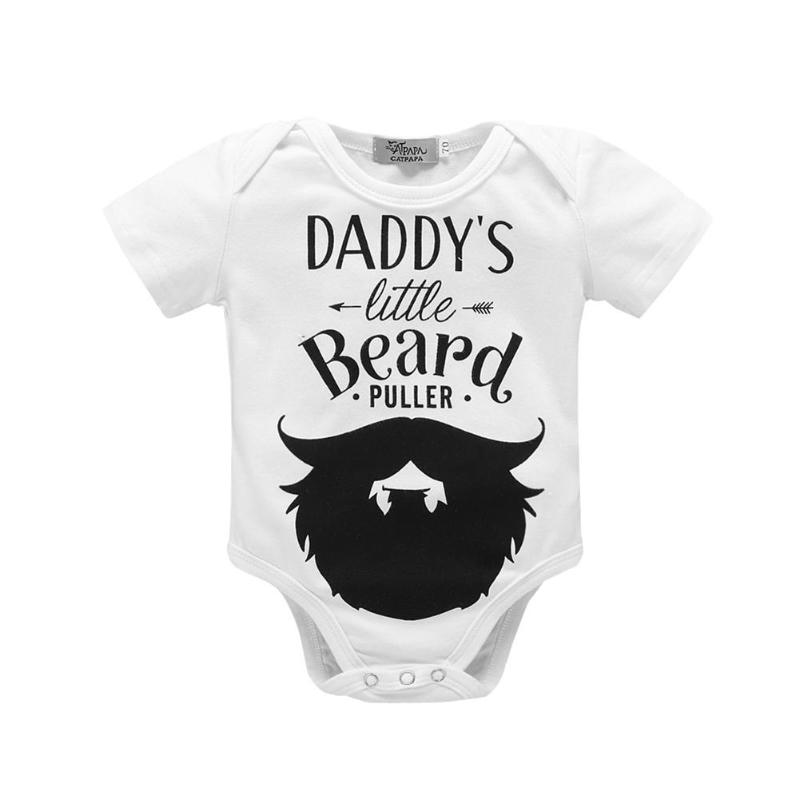 2018 Newborn Baby Clothes Toddler Infants Baby Bodysuit Auntie Uncle White Short Sleeve Tiny Cottons Baby Girl Boys Baby Onesie ...