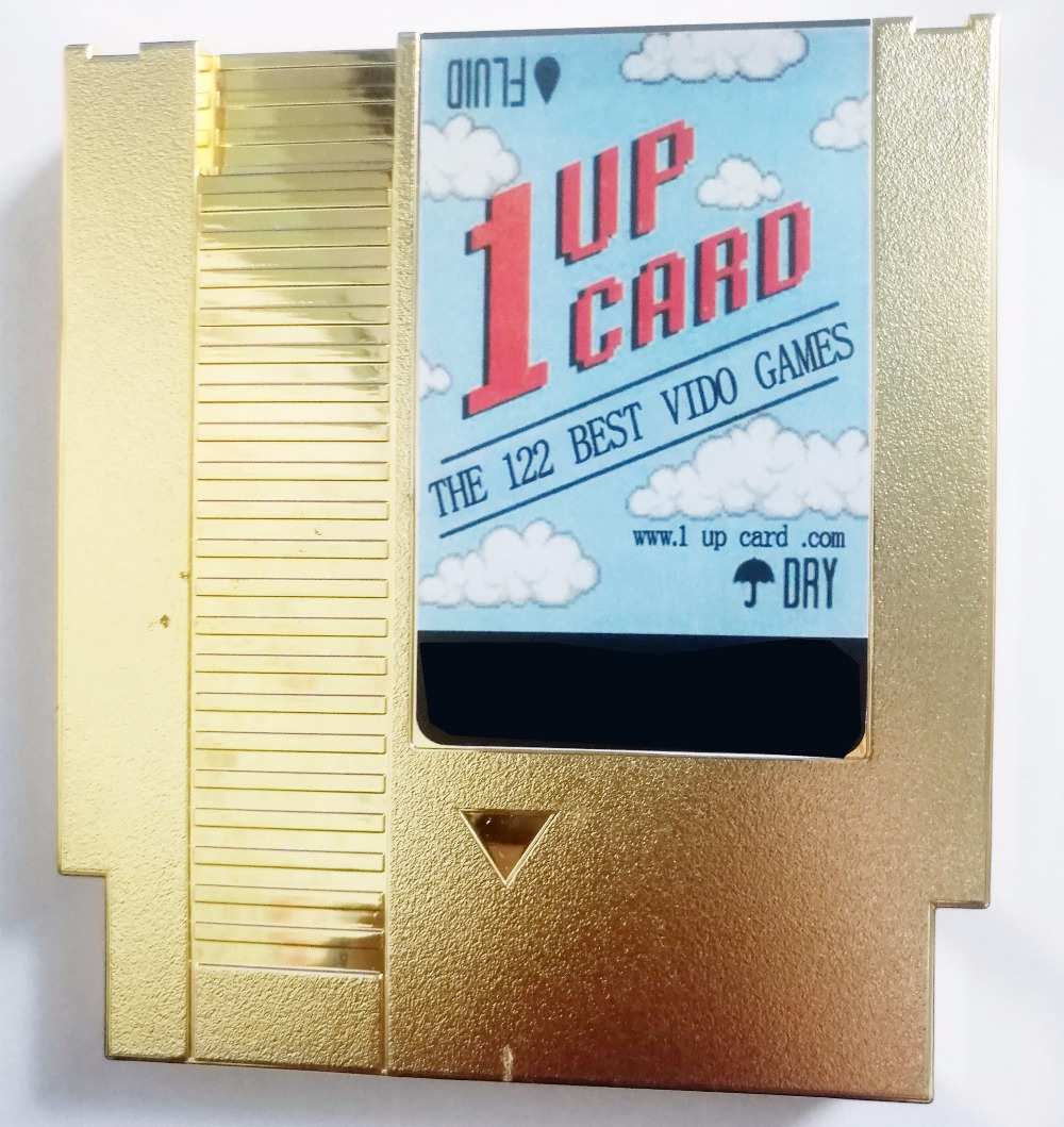 1 up cart 122 in 1Game Cartridge Contra / Earthbound / Megaman 123456 72 Pins 8 Bit Game Card