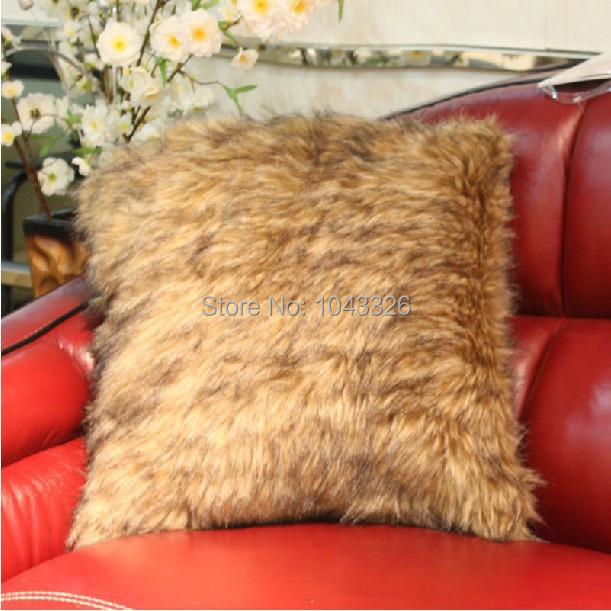 Wholesale! Luxurious fur mink coat Fur pillow cover Home decoration pillow cushion sofa cushions Car Cushion 50cm*50cm