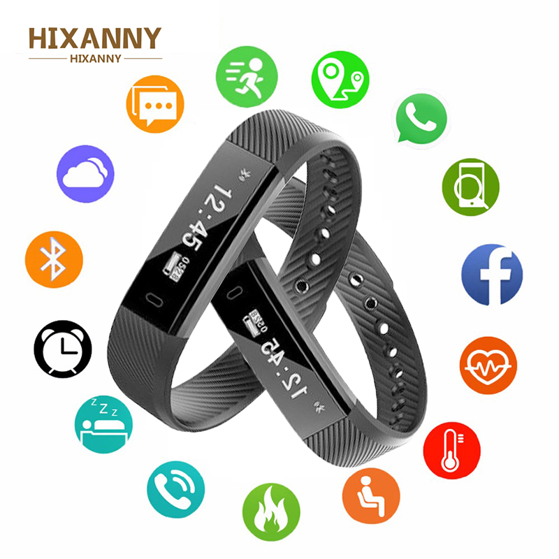 Smart Bracelet Sport Fitness Tracker Podometre Alarm Clock Vibration Wristband Veryfit Watch For Xiaomi IOS Pk Fitbits Miband