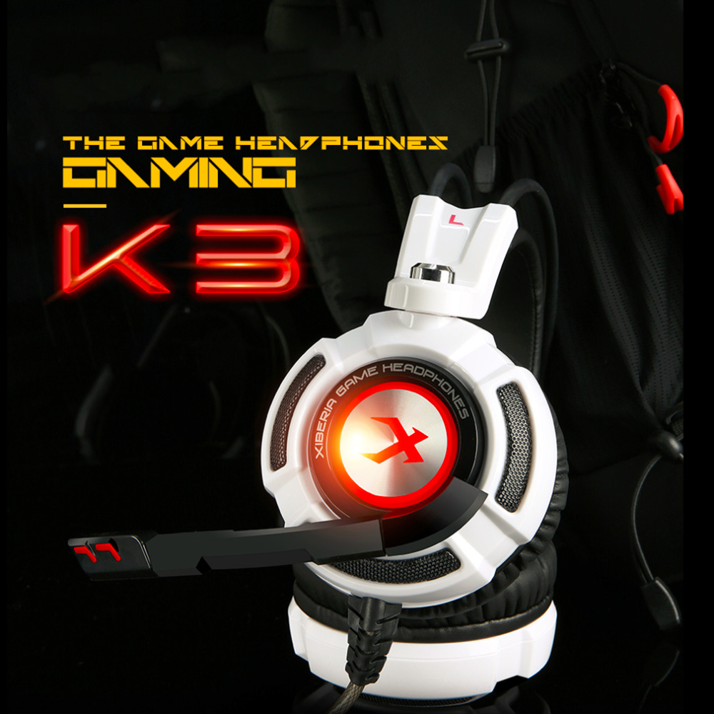 XIBERIA K3 USB 7.1 Gaming Headphones Free Shipping Computer PC Gamers Headbands With Microphones Mic 20-20000Hz