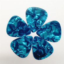 Premimum Quality Light Blue Pearl Celluloid Guitar Picks Blank Pearloid Sky Blue Guitar Plectrum 100PCS MOQ стоимость