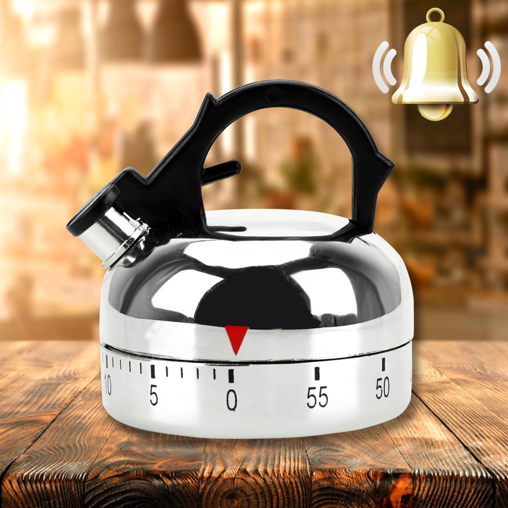 Kettle Shape Kitchen Tool Gadgets Cooking Reminders Tools Countdown Alarm Reminder 60 Minutes Kitchen Timer Mechanical Timer