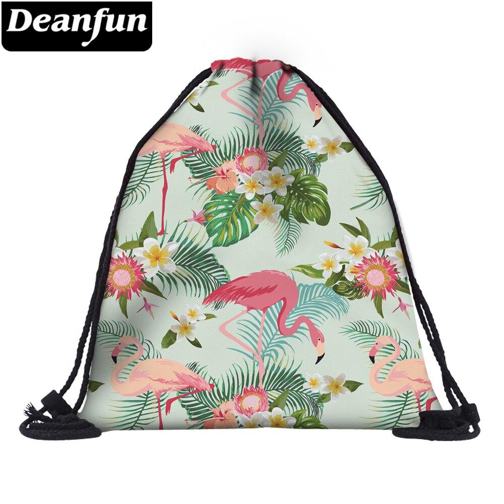 Deanfun Colorful Flamingo Drawstring Bag 3D Printing Schoolbags For School 60145