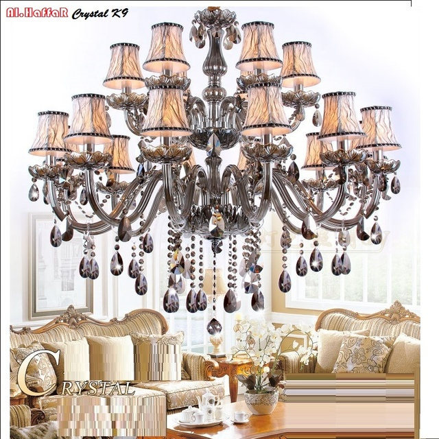 Modern crystal chandelier lighting smoky grey crystal chandeliers modern crystal chandelier lighting smoky grey crystal chandeliers large chandelier lighting bedroom living room lights lighting mozeypictures Gallery