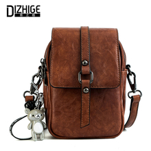 DIZHIGE Brand Fashion PU Leather Women Bag High Quality Crossbody Bags For Zipper Pendant Shoulder Messenger Phone New