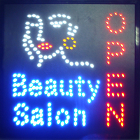 CHENXI LED Beauty Salon Open Store Neon Signs Graphics 15mm indoor Animated 19X19 inch of Beauty Spa Hair Nails Shop Led Signs