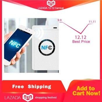 NFC ACR122U RFID смарт-карты Дубликатор с индикатором Дубликатор duplo и записи с настраиваемым потоком воздуха, клон kayfun по USB S50 13,56 МГц ISO/IEC18092 + 5 шт. M1...