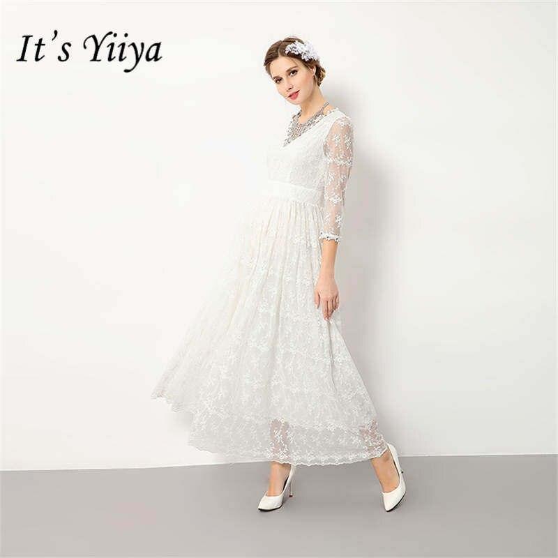Это YiiYa Новый v-образным вырезом для беременных летнее платье для беременных съемки фото кружева платья для беременных H151