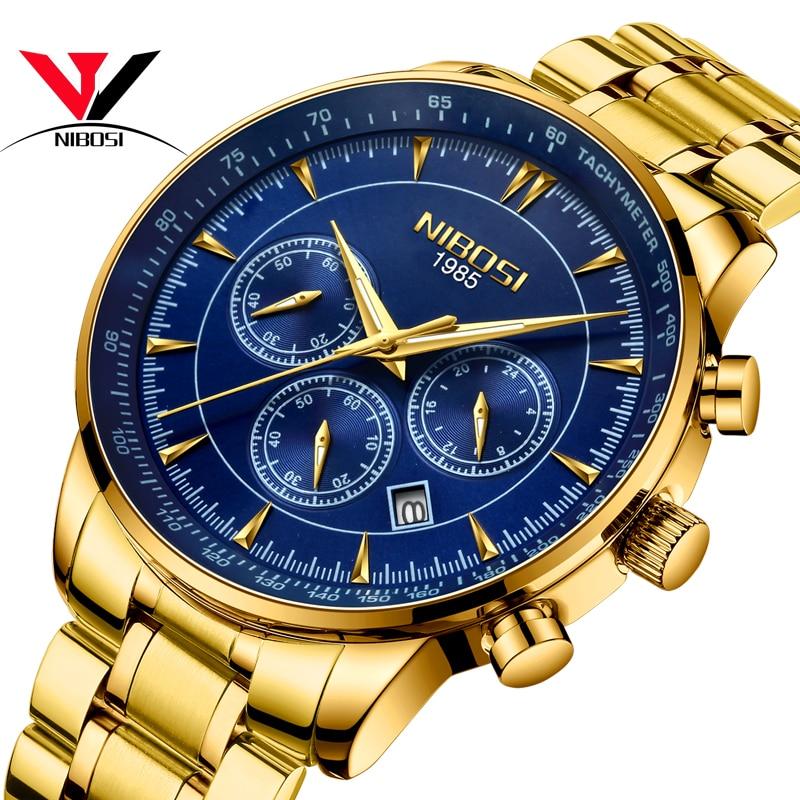Relogio Masculino NIBOSI Quartz Watches Men Steel Band Men Watches 2018 Luxury Brand Waterproof Wrist Watches For Men Brand Saat