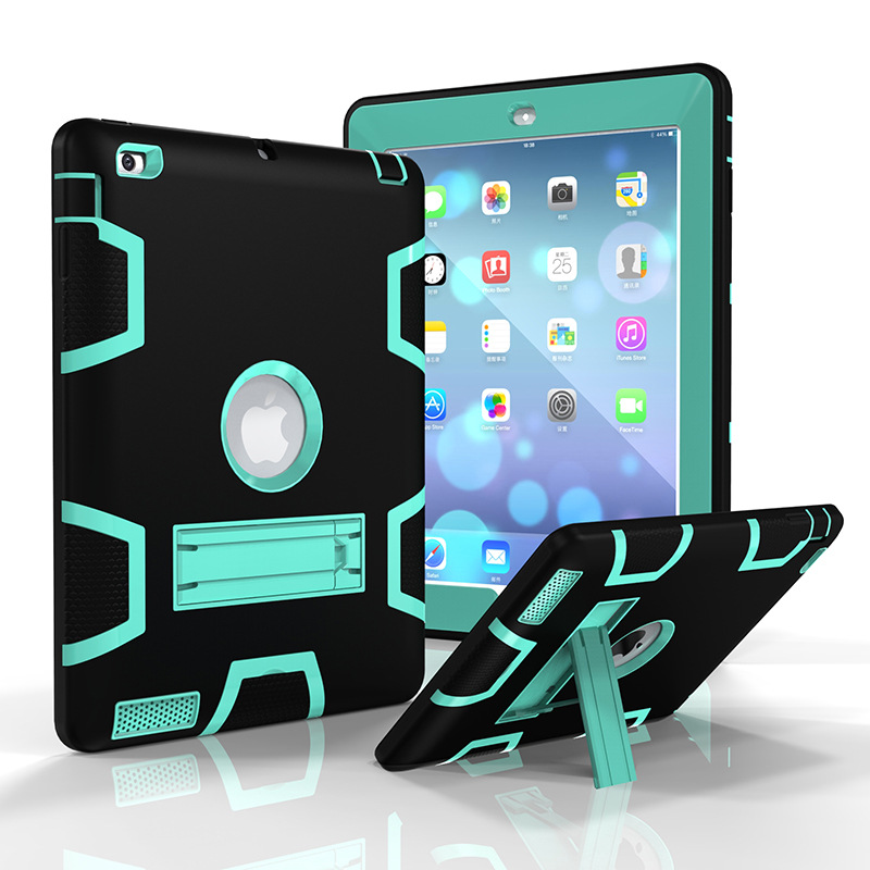 360 Degree Full Protection Shockproof Dustproof Hybrid Heavy Duty Armor Kids Safe Case Stand Cover For Apple iPad Pro 9.7 Shell
