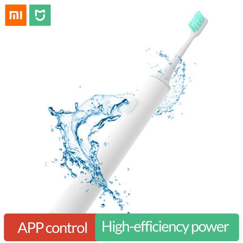 Original Xiao mi mi jia Sound Welle Elektrische Zahnbürste Smart Sonic Zahnbürste Wasserdichte Drahtlose Lade mi Hause APP Control