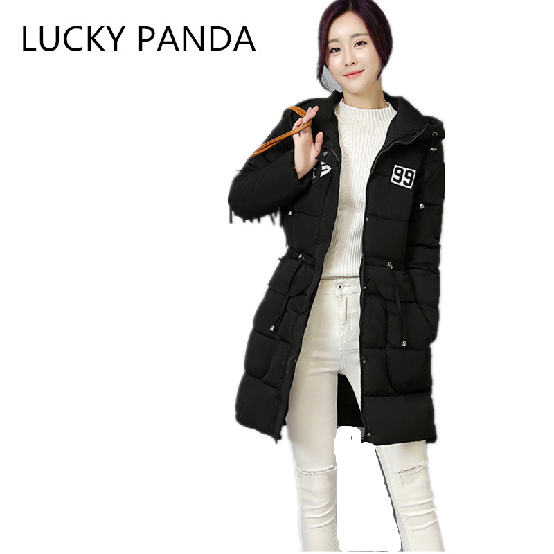 LUCKY PANDA 2016 WOMAN new season cotton slim slim down in the long coat female wizard hat labeling LKB185 the woman in the photo